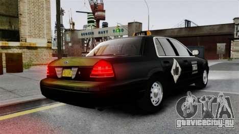 Ford Crown Victoria Cab для GTA 4 вид сзади слева