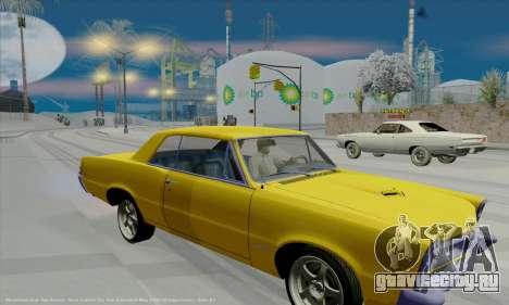 Pontiac GTO 1965 для GTA San Andreas вид изнутри