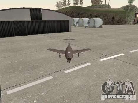 МиГ 15 Бис для GTA San Andreas вид сзади
