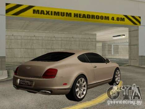Bentley Continental Supersports для GTA San Andreas вид слева