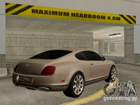 Bentley Continental Supersports для GTA San Andreas вид слева