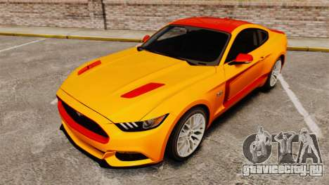Ford Mustang GT 2015 v2.0 для GTA 4 вид снизу