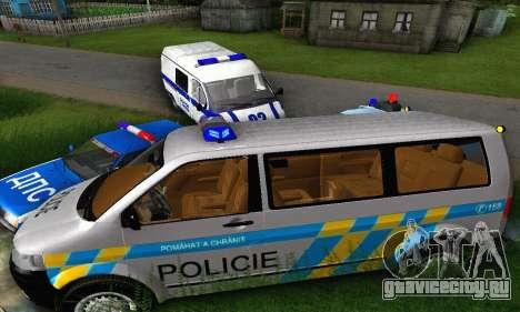 Volkswagen Transporter Policie для GTA San Andreas вид сзади