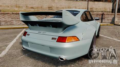 Porsche 993 GT2 1996 v1.3 для GTA 4 вид сзади слева