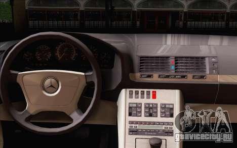 Mercedes-Benz S500 w140 для GTA San Andreas вид сзади слева