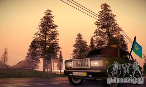 Ваз 2107 ВДВ для GTA San Andreas вид снизу