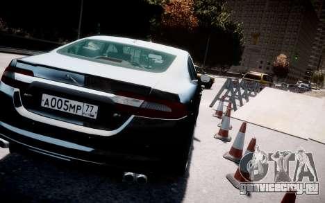 Jaguar XF-R 2012 v1.2 для GTA 4 вид изнутри