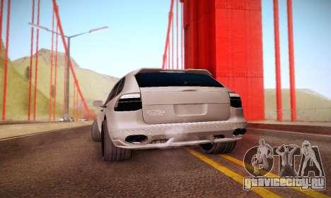 Porsche Cayenne для GTA San Andreas вид сзади