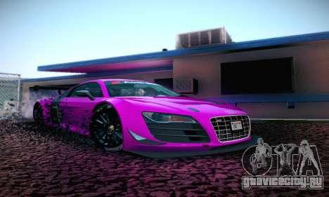 Audi R8 LMS Ultra v1.0.0 для GTA San Andreas вид слева