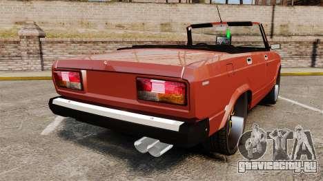 ВАЗ-2107 Donk Style для GTA 4 вид сзади слева