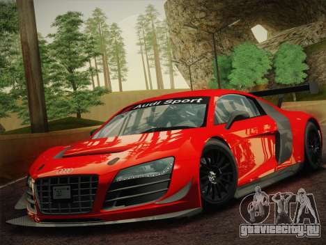 Audi R8 LMS Ultra W-Racing Team Vinyls для GTA San Andreas вид слева