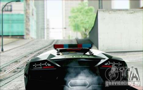 Lamborghini Reventon Police Car для GTA San Andreas вид слева