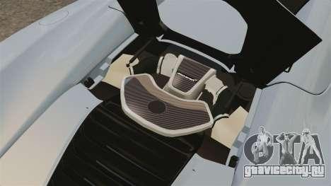 McLaren MP4-12C Spider 2013 для GTA 4 вид сзади
