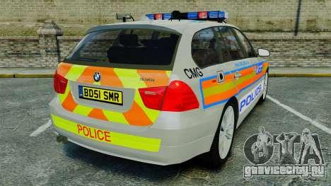 BMW 330i Touring Metropolitan Police [ELS] для GTA 4 вид сзади слева