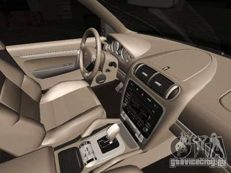 Porsche Cayenne Turbo S для GTA San Andreas вид сзади