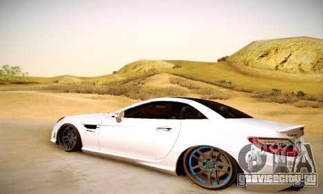 Mercedes Benz SLK55 AMG 2011 для GTA San Andreas вид сзади слева