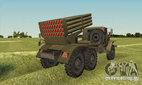 Урал 375 БМ-21 для GTA San Andreas вид слева