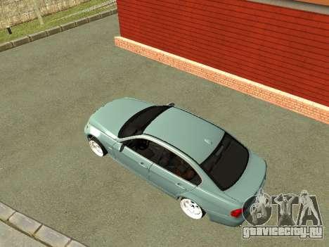 BMW M3 E90 для GTA San Andreas вид справа