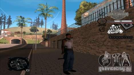 C-Hud Heavy Metal для GTA San Andreas второй скриншот
