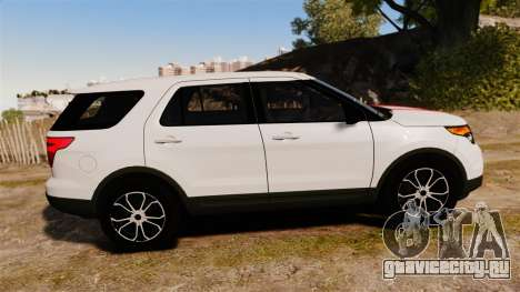 Ford Explorer Sport 2014 для GTA 4 вид слева