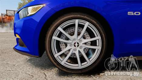 Ford Mustang GT 2015 Unmarked Police [ELS] для GTA 4 вид сзади