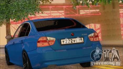 BMW 330i для GTA San Andreas вид сзади