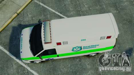 Vapid Speedo Rural Metro EMS [ELS] для GTA 4 вид справа