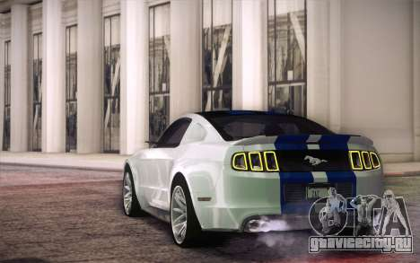 Ford Mustang 2013 - Need For Speed Movie Edition для GTA San Andreas вид сзади слева