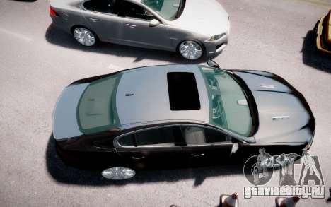 Jaguar XF-R 2012 v1.2 для GTA 4 вид сзади