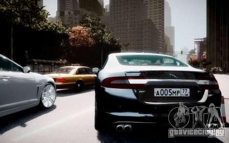 Jaguar XF-R 2012 v1.2 для GTA 4 вид сзади слева