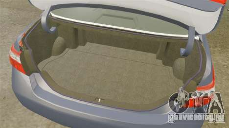 Toyota Camry для GTA 4 вид сбоку