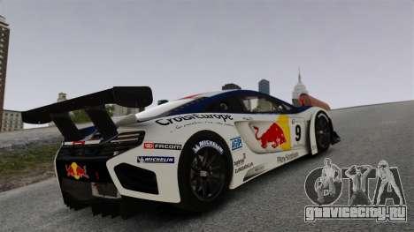 McLaren MP4-12C GT3 для GTA 4 вид сверху