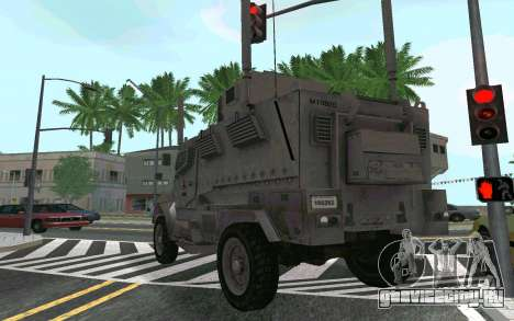 MRAP Mèxico Marines для GTA San Andreas вид справа