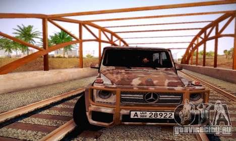 Mercedes Benz G65 Army Style для GTA San Andreas вид сверху