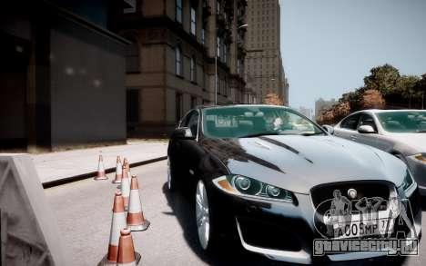 Jaguar XF-R 2012 v1.2 для GTA 4 вид справа