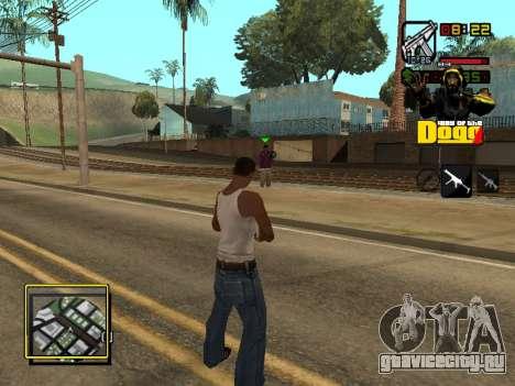 C-HUD Snoop Dogg для GTA San Andreas четвёртый скриншот