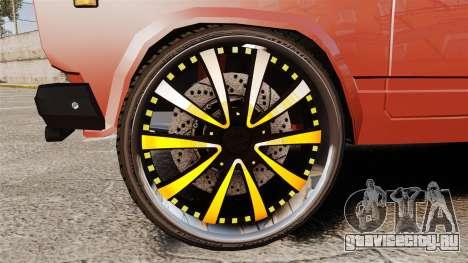 ВАЗ-2107 Donk Style для GTA 4 вид сзади