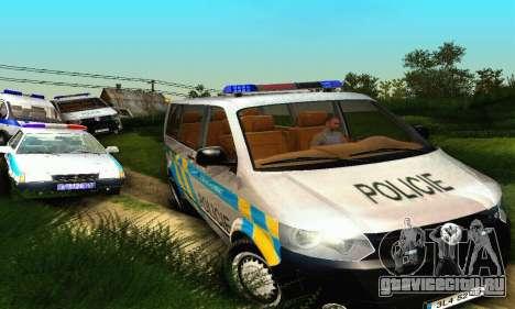 Volkswagen Transporter Policie для GTA San Andreas вид сбоку