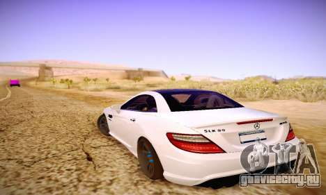 Mercedes Benz SLK55 AMG 2011 для GTA San Andreas вид снизу