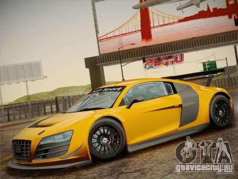 Audi R8 LMS Ultra W-Racing Team Vinyls для GTA San Andreas вид сверху