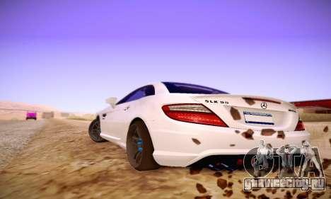 Mercedes Benz SLK55 AMG 2011 для GTA San Andreas вид справа