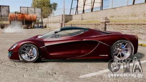 GTA V Grotti Turismo R v2.0 для GTA 4 вид слева