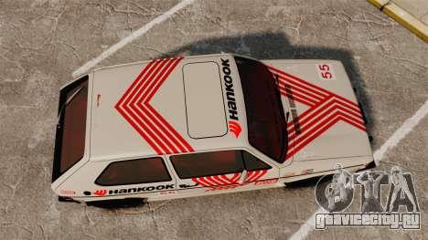 Volkswagen Rabbit GTI 1984 для GTA 4 вид справа