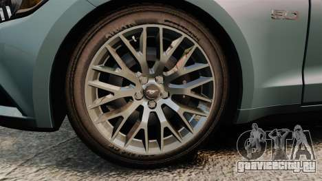 Ford Mustang GT 2015 v2.0 для GTA 4 вид сзади