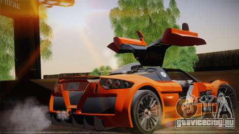 Gumpert Apollo Sport V10 для GTA San Andreas вид сзади слева
