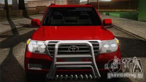 Toyota Land Cruiser 200 для GTA San Andreas вид сверху