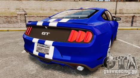 Ford Mustang GT 2015 Unmarked Police [ELS] для GTA 4 вид сзади слева