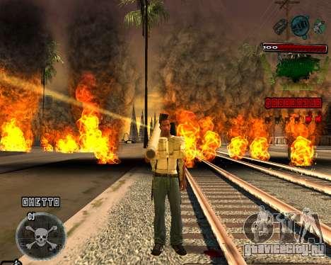 C-HUD Grove St для GTA San Andreas второй скриншот
