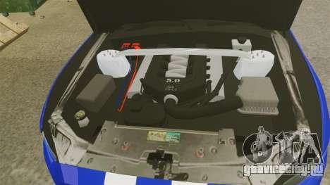 Ford Mustang GT 2015 Unmarked Police [ELS] для GTA 4 вид изнутри