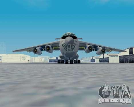 Ил-76ТД Авиакон Цитотранс для GTA San Andreas вид сзади слева